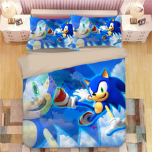 Sonic The Hedgehog Bedding Set Super Mario Bros Duvet Covers Pillowcases Twin Full Queen King Comforter Bedding Sets Bed Linen(China)