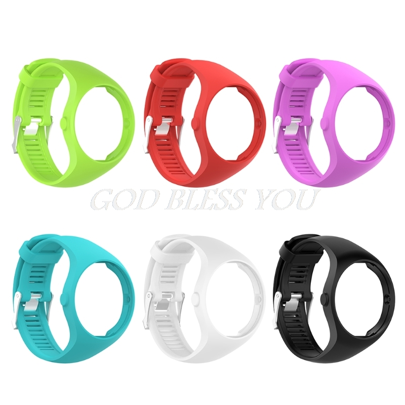 Silicone Watch Band Wristband Bracelet Replacement For Polar M200 GPS Watch