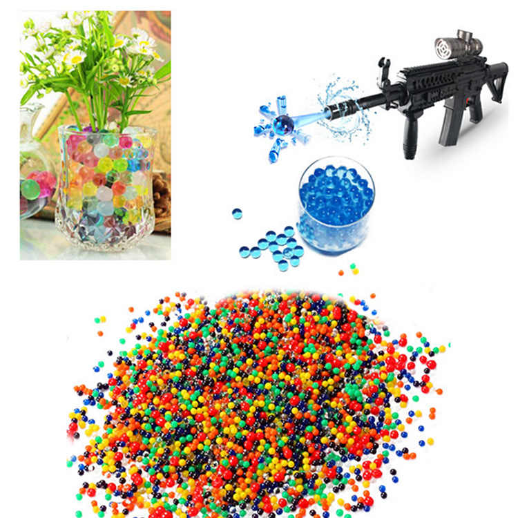 10000pcs 9-11mmcolored crystal water gun paintball bullet for gun toy grow water absorption beads balls toy gun Orbita pistolet