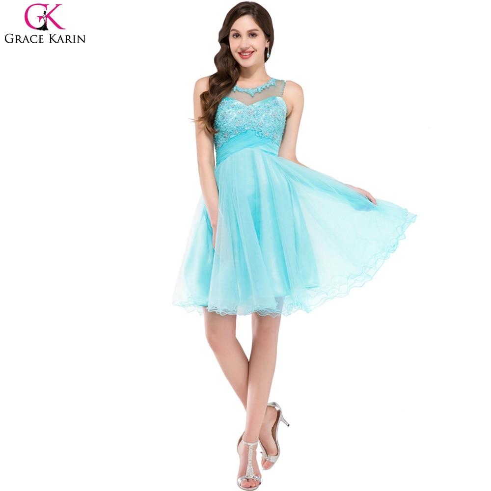 Aliexpress.com : Buy Grace Karin Prom Dresses Knee Length Beaded ...