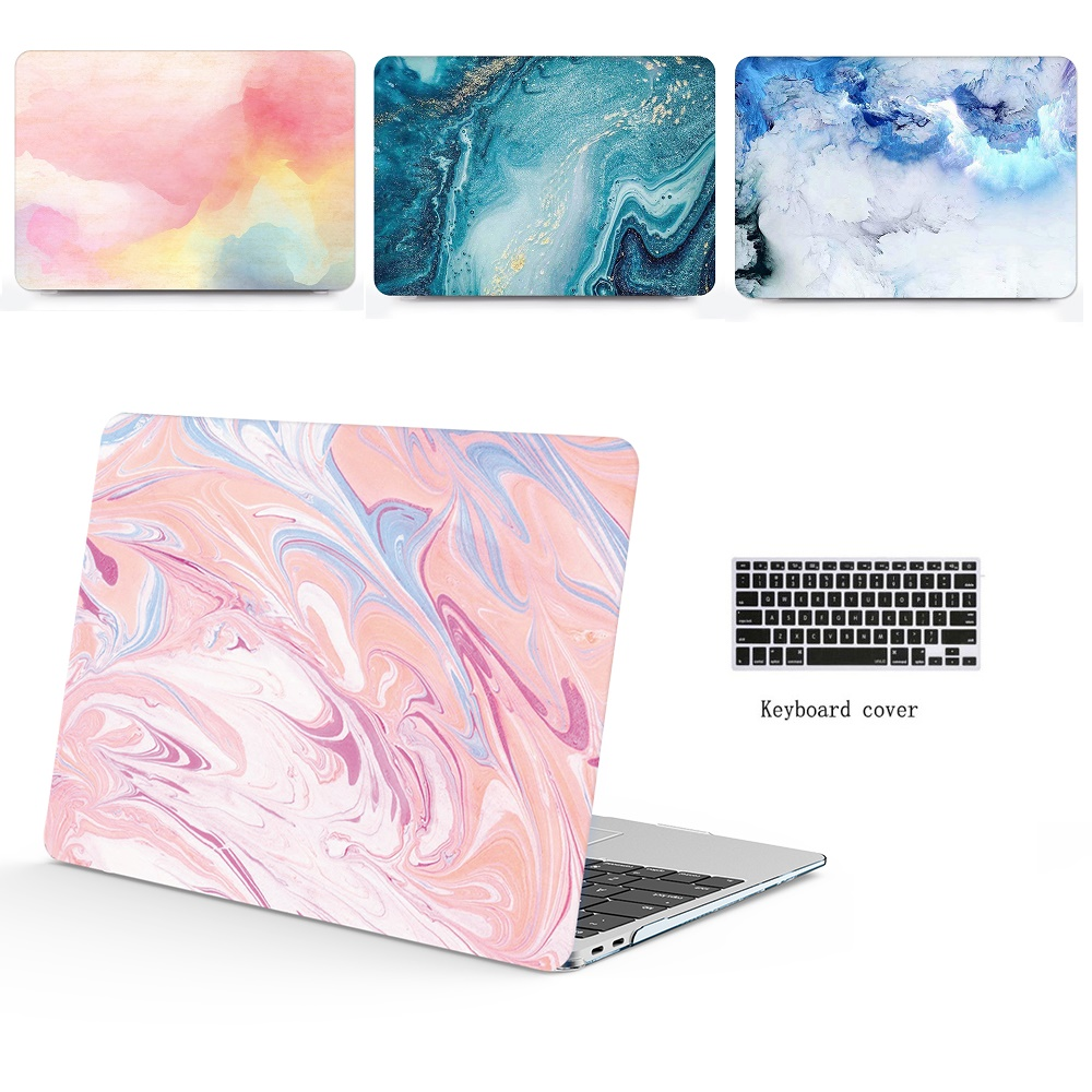 New Marble pattern laptop Case+keyboard Cover For Apple Macbook Air Pro Retina Touch Bar 11.6 13.3 Laptop Case 11 12 13 15 inch image