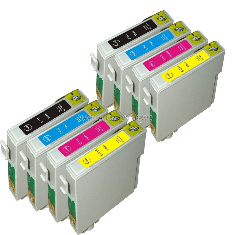 Cartuchos de tinta para Stylus DX4000 8 DX4050 DX5000 DX5050 SX400 SX400WIFI SX405 SX405WIFI SX600FW SX610FW