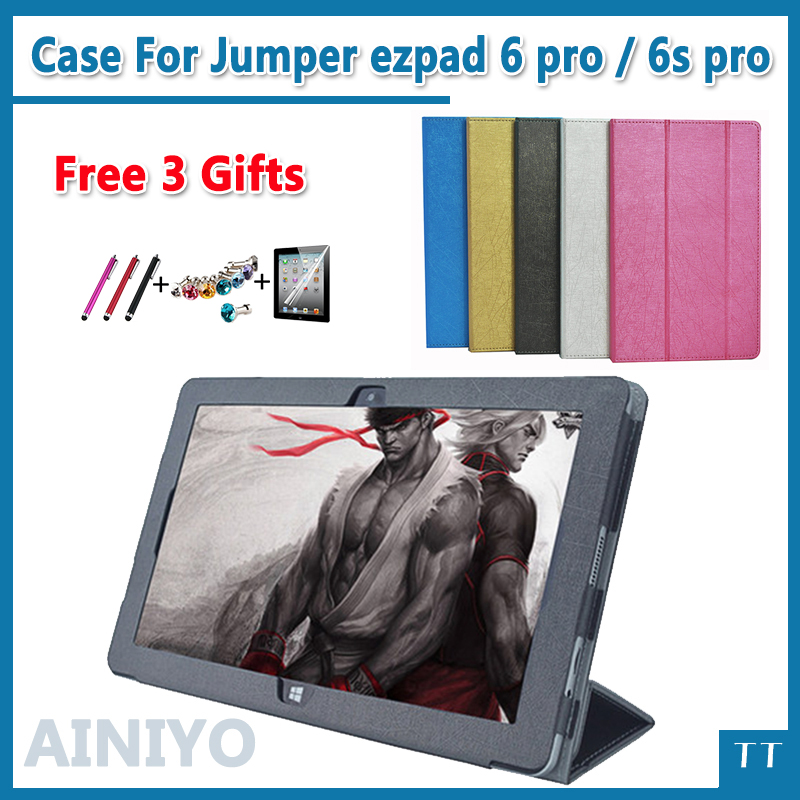 high quality Case For Jumper ezpad 6 pro 11.6 inch tablet Flip Stand PU Leather case for Jumper ezpad 6s Pro+3gift jumper folding magnetic keyboard case for ezpad 4s pro tablet