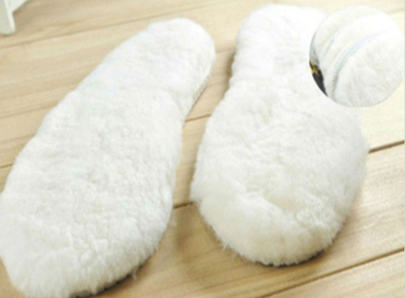White Sheep Skin Fur insole Warm in Winter Pairs insole for Male Female in Automobiles Seat Covers from Automobiles Motorcycles