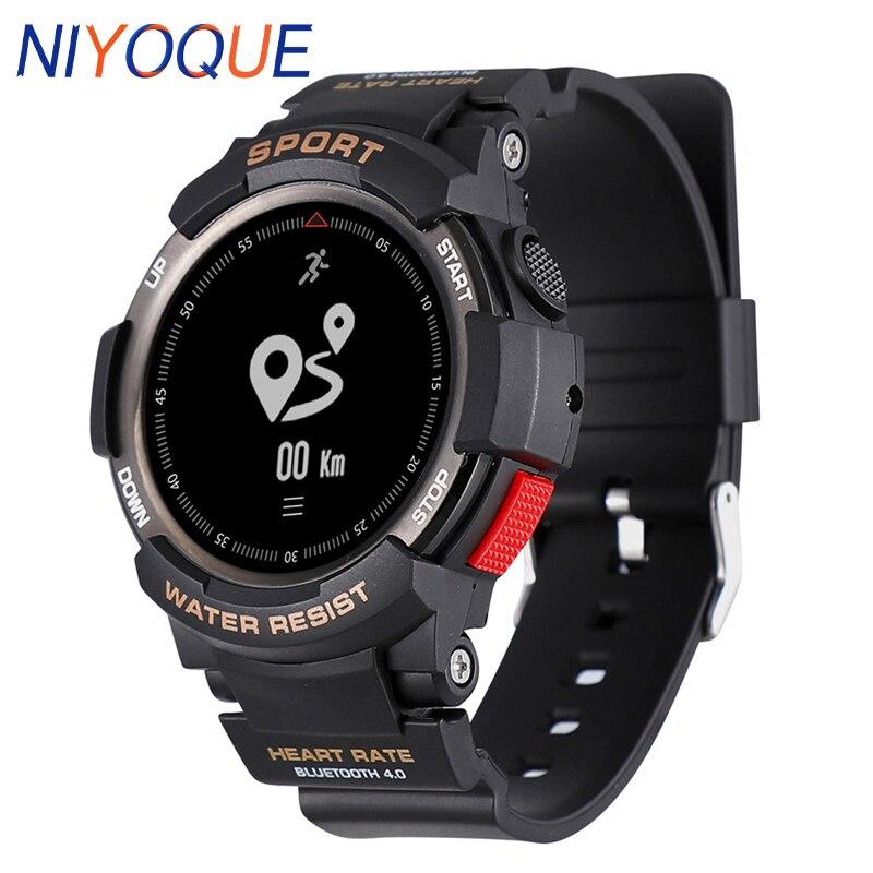 NIYOQUE Outdoor Smart Watch Waterproof Bluetooth 4 0 Sleep Monitor Remote Camera GPS Sports F6 Smart