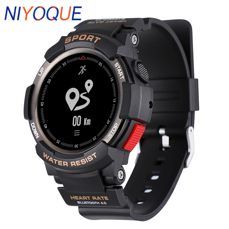 NIYOQUE Outdoor Smart Watch Waterproof Bluetooth 4.0 Sleep Monitor Remote Camera GPS Sports F6 Smart Band For IOS Android Phone цены