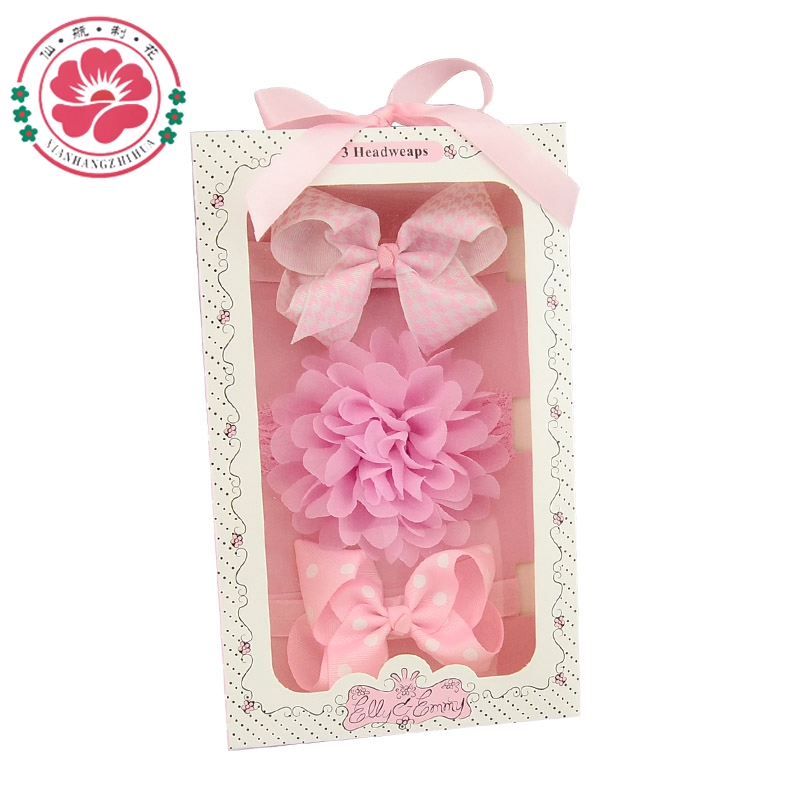 Lace Flower Hairband Bow Girls Hair Accessories Mother /& Kids Girls Clothing