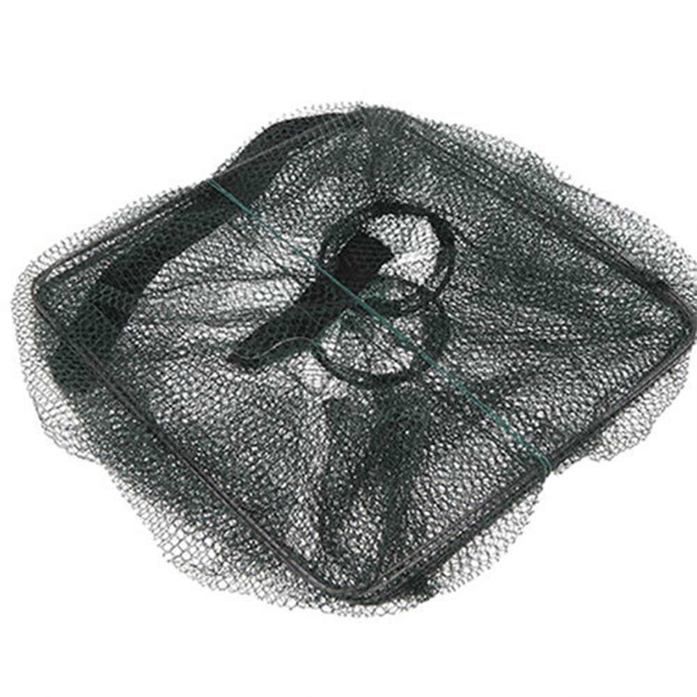 Prático Dobrável Cesta Gaiola Camarão Crawdad Minnow Isca De Pesca Armadilha Elenco Net