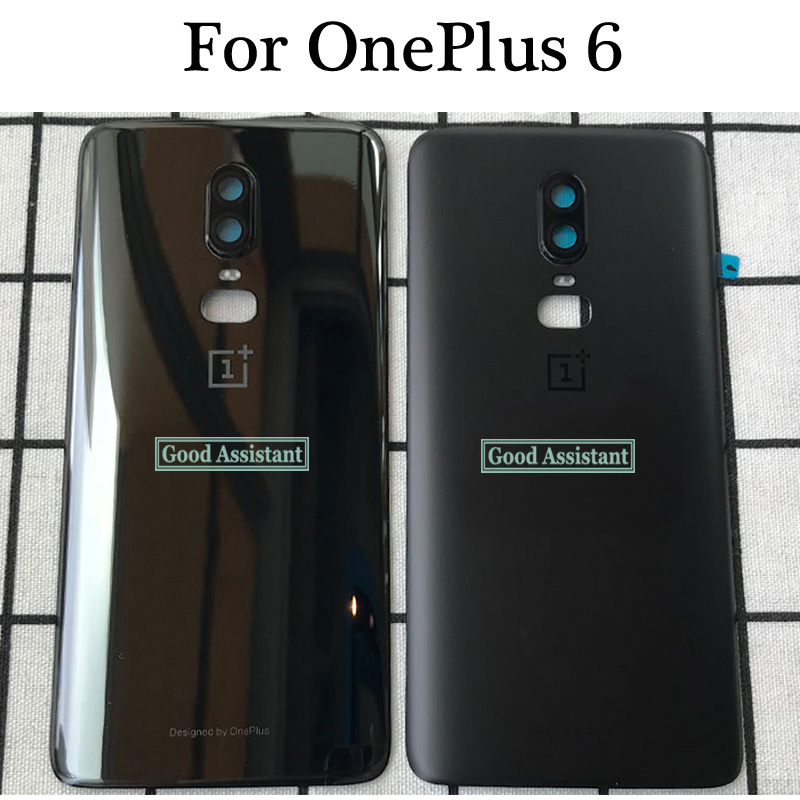 Cover Back-Battery A6003 Oneplus One Door-Housing-Case Glass-Parts for Rear White/red