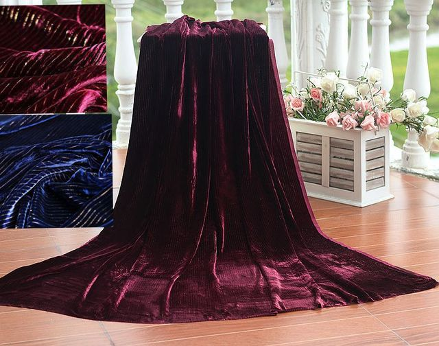 free shipping velvet gold fabric for sewing rayon/silk velvet fabric for dress flocking silk fabric cloth  2 colors