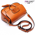 2017 Women Messenger Bags Genuine leather Fashion ladies shoulder bags hotsale crossbody Famous Brand MALLUO high quality totes