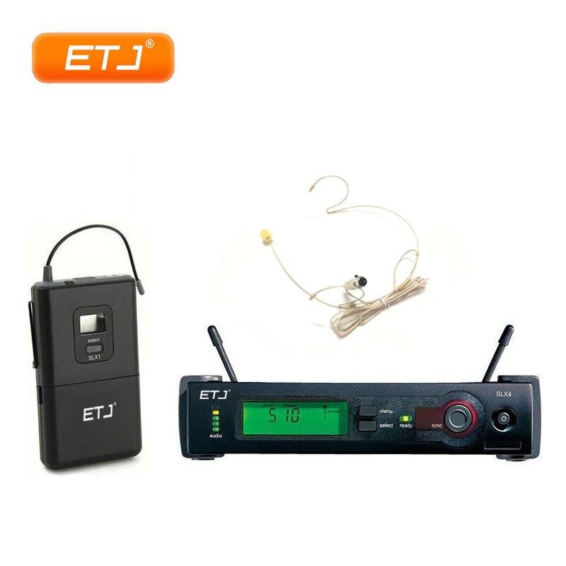 Micro professionnel UHF système de micro double sans fil SLX14 noir casque micro SLX Bodypack