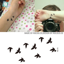 2pcs/lots Waterproof Tattoo Of Male And Female Small Fresh Tattoo English Letter Smile Custom HC1073 Smile Pattern