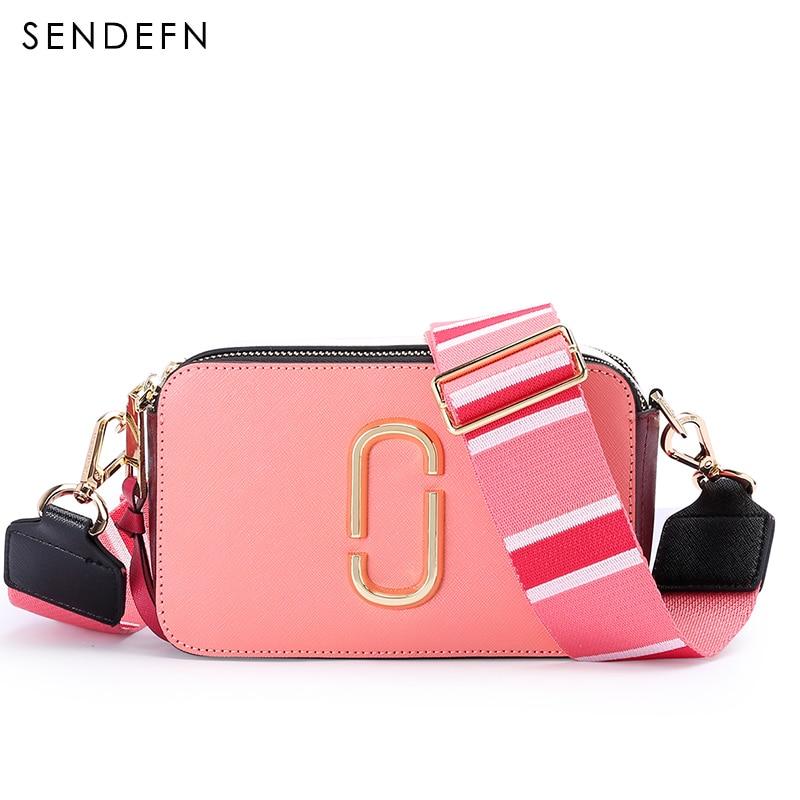 SENDEFN Fashion Leather Shoulder Women Preppy Handbags Female Double Zipper Small Solid Ladies Messenger Bags For