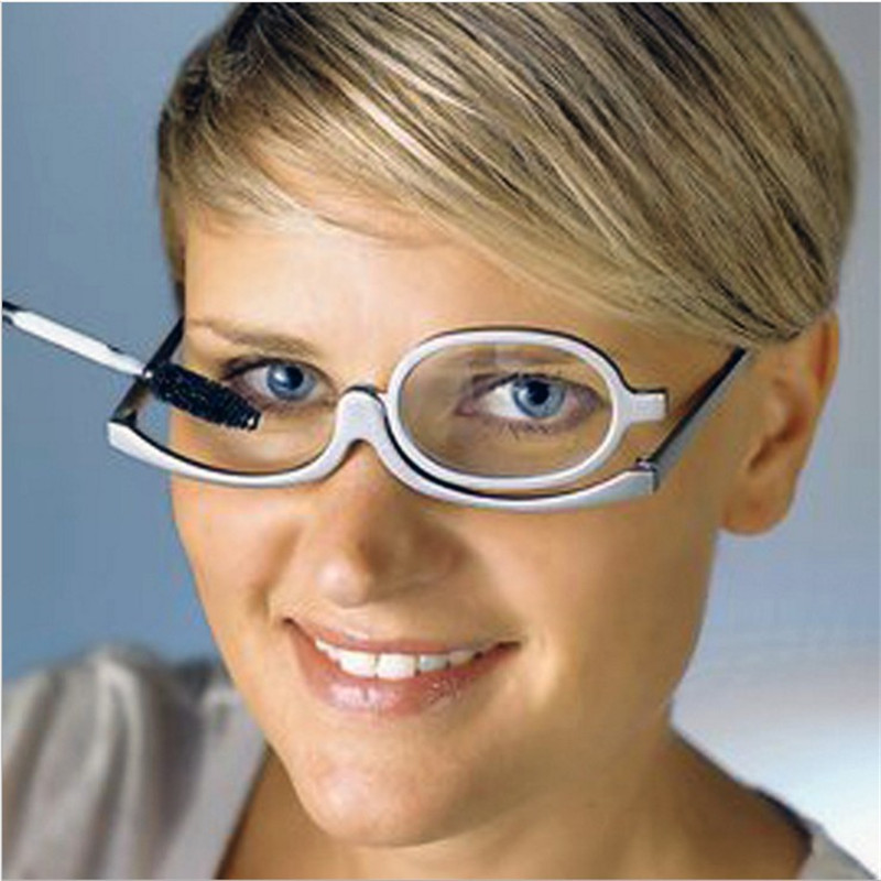 d4d09a18a76 Detail Feedback Questions about 2018 Rotating Magnify Eye Makeup Glasses  Reading Glasses Women Cosmetic Presbyopia Eyeglasses Folding Up Eyewear  YJ208 on ...
