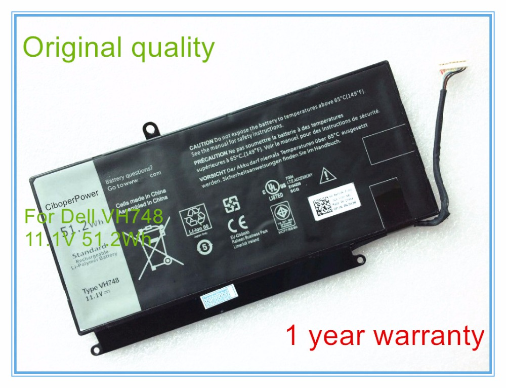 New 51.2Wh original VH748 Battery for 14-5439 5460 5470 5560