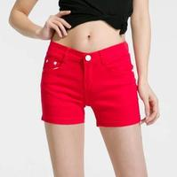 2018 Summer New Women Casual Shorts Fashion Solid Candy Color Shorts