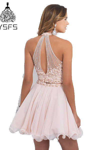ad3fda12aa34d Light Pink Beaded Cheap Cute 8th Grade Short 2 Two Piece Homecoming Dresses-in  Homecoming Dresses from Weddings & Events on Aliexpress.com | Alibaba Group
