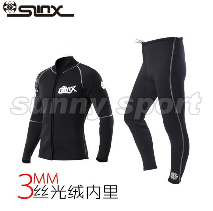3 mm Jacket pants wetsuit Suede split inside warm wet clothes diving suit diving trousers Long