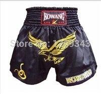 Muay Thai hombres y mujeres pantalones de mercancías de la calidad el águila roja kickboxing muay thai boxeo pantalones pantalones sueltos transpirable pantalones cortos