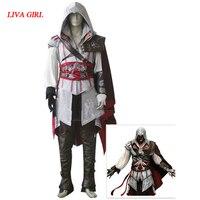 Disfraz de Halloween Cosplay Assassins Creed de Assassin Creed II Ezio Traje sistemas de la ropa
