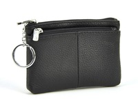Men Women Genuine Real Leather Mini Coin Wallet Multi Zip Pocket Coin Bag Change Classic Casual