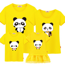 Family Matching Outfits Summer 2018 Family Look Mother And Daughter Dresses Mom And Me Clothes Family Christmas T-shirt Panda
