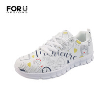 FORUDESIGNS Flats Women Sneakers Fashion Nail Polish Brand Designer Spring Summer Mesh Comfortable Mesh Ladies Shoes Woman 2019