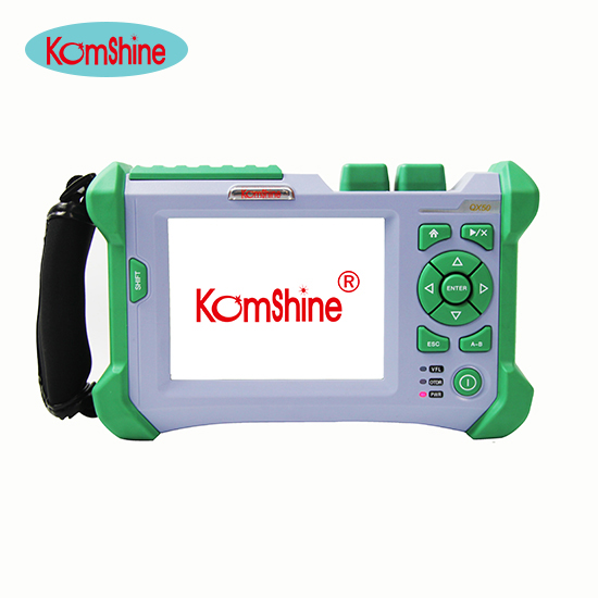 KOMSHINE QX 50 S 1310/1550nm 32/30dB Visual Fault Location Function Optical Fiber OTDR communication Fiber Testing equipment