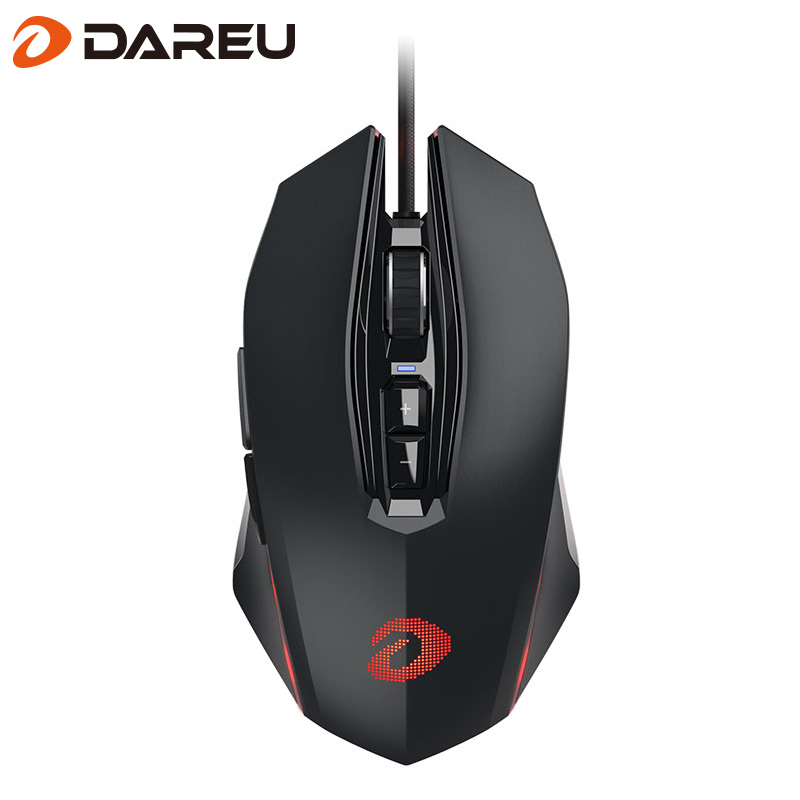 Dareu Wired USB Gaming Mouse Adjustable Computer Optical LED Game Mice Mouse LOL 10800 DPI For Professional Gamer Laptop i rocks 7810r usb 2 0 wired 1800dpi optical gaming mouse white silvery grey