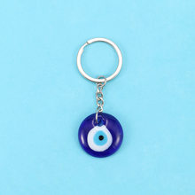 Fashion Lucky Turkish Greek Blue Evil Eye Charm Pendant Gift Fit DIY Keychain Car Key Chains Ring Holder Accessories(China)