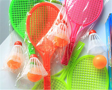 1 Pair Novelty Parent-child Sport Educational Toys Bat Baby Sport Kid Baby Outdoor Sports Badminton Tennis Set Racket(China)