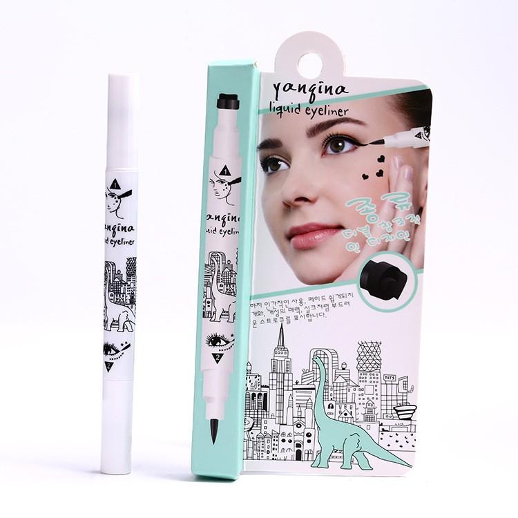 Waterproof-Eyeliner-Pen-Not-Blooming-Eye-Makeup-Embellish-Love-Heart-Five-Star-Logo-Ornament-Natural-Long (4)