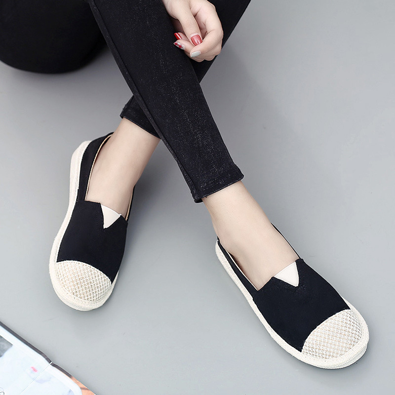 Women Loafers Summer Casual Cane Hemp Straw Fisherman Shoes Fashion Pink Black Flat Lazy Shoes Lightweight Shoes Breathable New fashion tassels ornament leopard pattern flat shoes loafers shoes black leopard pair size 38