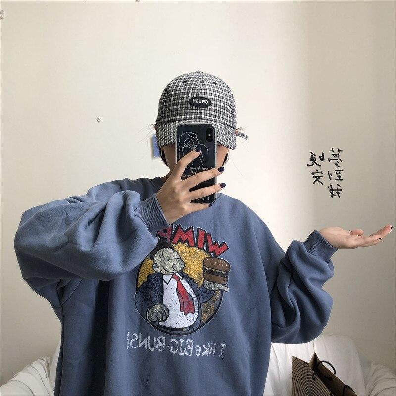 YouGeMan Best Friends Sweatshirt Autumn Winter Ulzzang Harajuku Vintage Funny Fleece Pullover Hoodies Women Long Sleeve Sweat