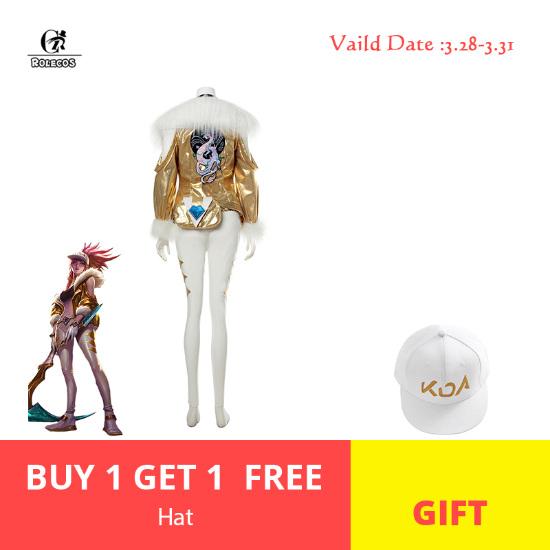 ROLECOS KDA Akali Prestige Edition Cosplay KDA Akali Cosplay Costume LOL K/DA Costume Women Winter Coat Halloween Costume Outfit