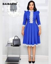 BAIBAZIN African Riche Bazin Dress For Women Long Sleeve Lace