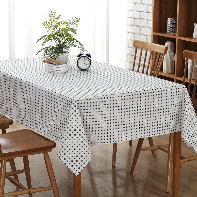 Fahion Hot Selling Canvas Tablecloths Household Table Cloth Restaurants Home Hotel Tablecloth Dinner Cover Towel White