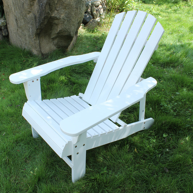Outdoor Folidng Wood Adirondack Chair 2 Colors White/Red Outdoor Furniture  Folding Chair Wooden Beach