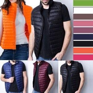 Image 2 - Winter Vrouwen Down Vest Mode Vrouwelijke Mouwloze Vest Jas Warm Donsjack Plus Size Vrouwen Mouwloze Jassen Maat S XXXL
