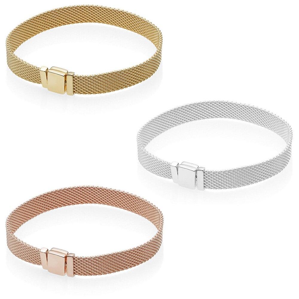 2018 neue 100% 925 Sterling Silber Reflexions Armband Fit Europäischen Charme Perlen Für Frauen Geschenk Original Mode DIY Schmuck Geschenk