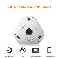 Wireless 360 Degree Panorama Camera HD 960P WIFI IP Camera Home Security Surveillance System ONVIF Webcam