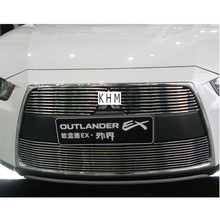 For High quality Aluminium alloy Front Grille Around Trim Racing Grills Trim For 2010 2012 Mitsubishi