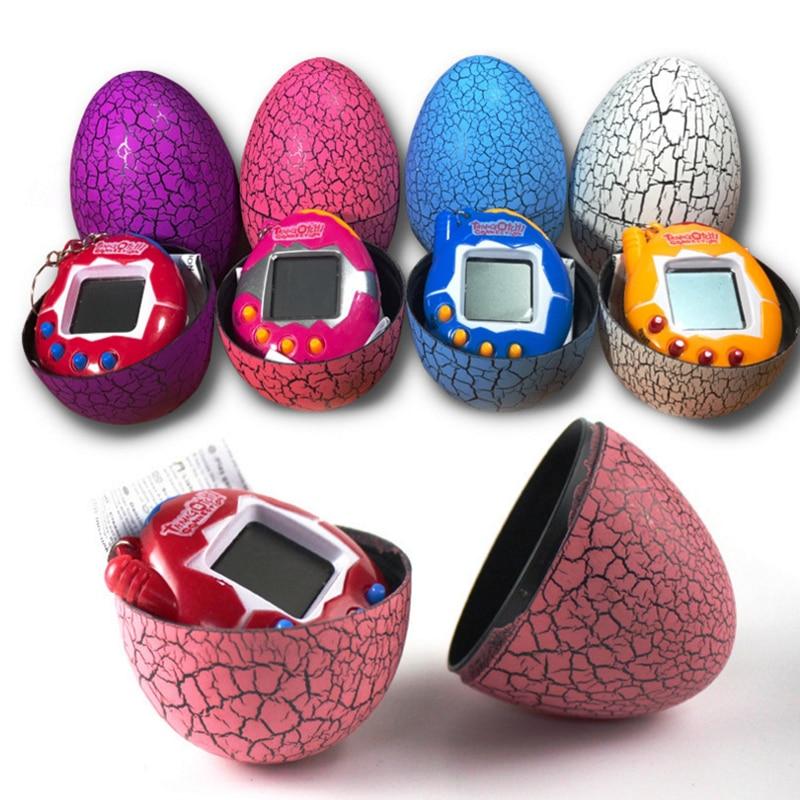New arrive Electronic E-Pet Multi-colors Dinosaur egg Virtual Cyber Digital Pet Game Toy Tamagotchis Digital Christmas Gift