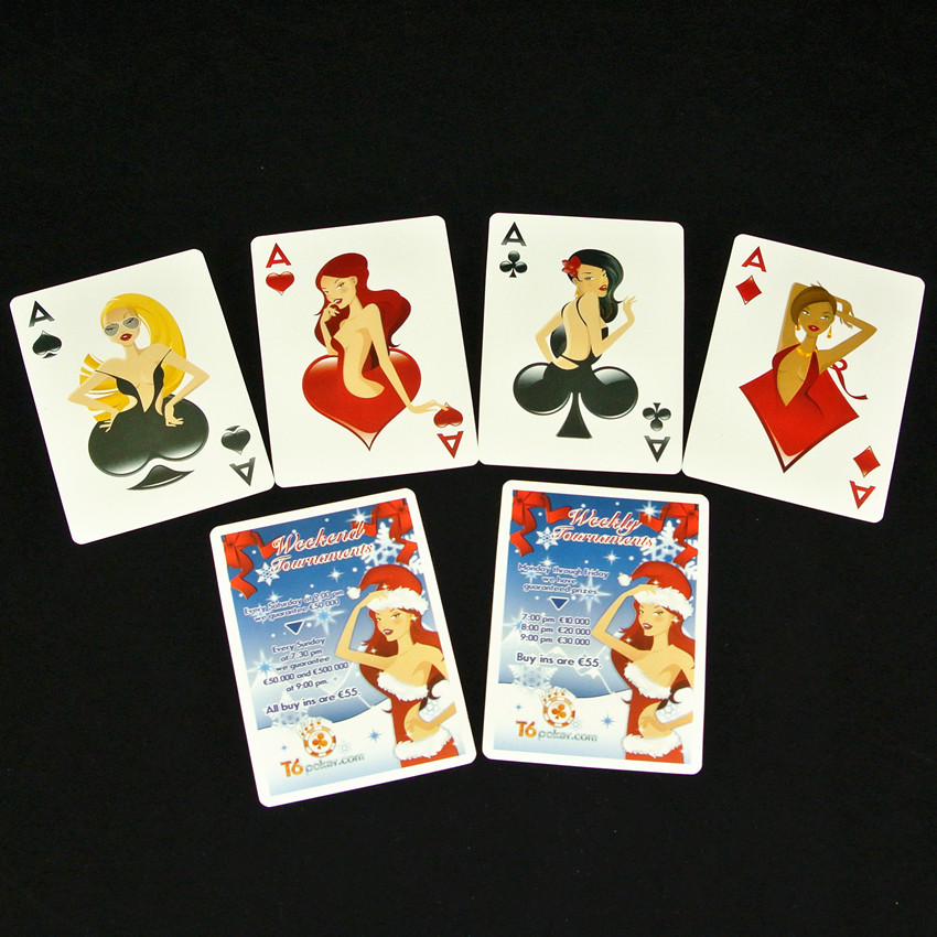PVC Waterproof Plastic Christmas Girls Playing Cards Collection Creative Cards ...