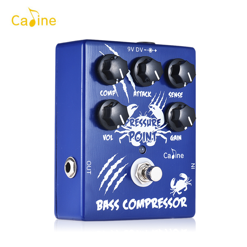 Caline CP 45 Bass Guitar Pedal Compressor Bass Guitar Effect Pedal Aluminum Alloy With True Bypass