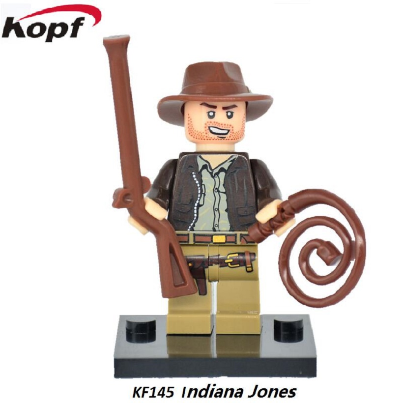 Hot Sale Building Blocks Super Heroes Nightmare Batman Indiana Jones Model Bricks Best Collection Toys for children Gift KF145 2017 hot sale forest animals children assembled diy wooden building blocks toys baby toy best gift for children ht2265