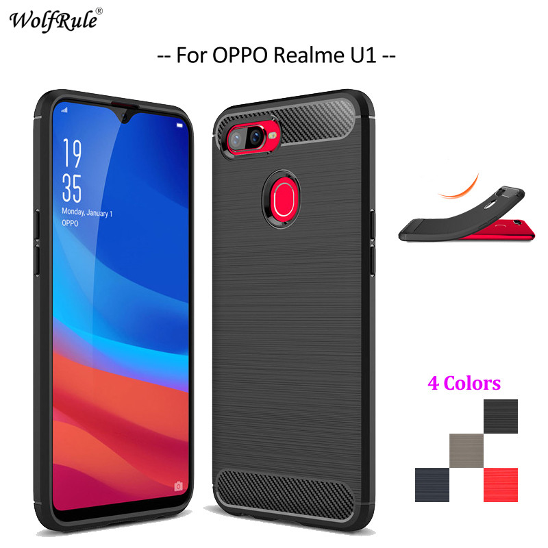 Carbon Fiber Phone Case For OPPO Realme U1 Case Soft TPU Back Cover For OPPO Realme U1 Rugged Protective Phone Bumper 6.3''