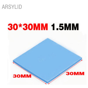 ARSYLID High quality 30*30*1.5mm Thermal conductivity 3.6W GPU CPU Heatsink Cooling Conductive Silicone Pad Thermal Pad