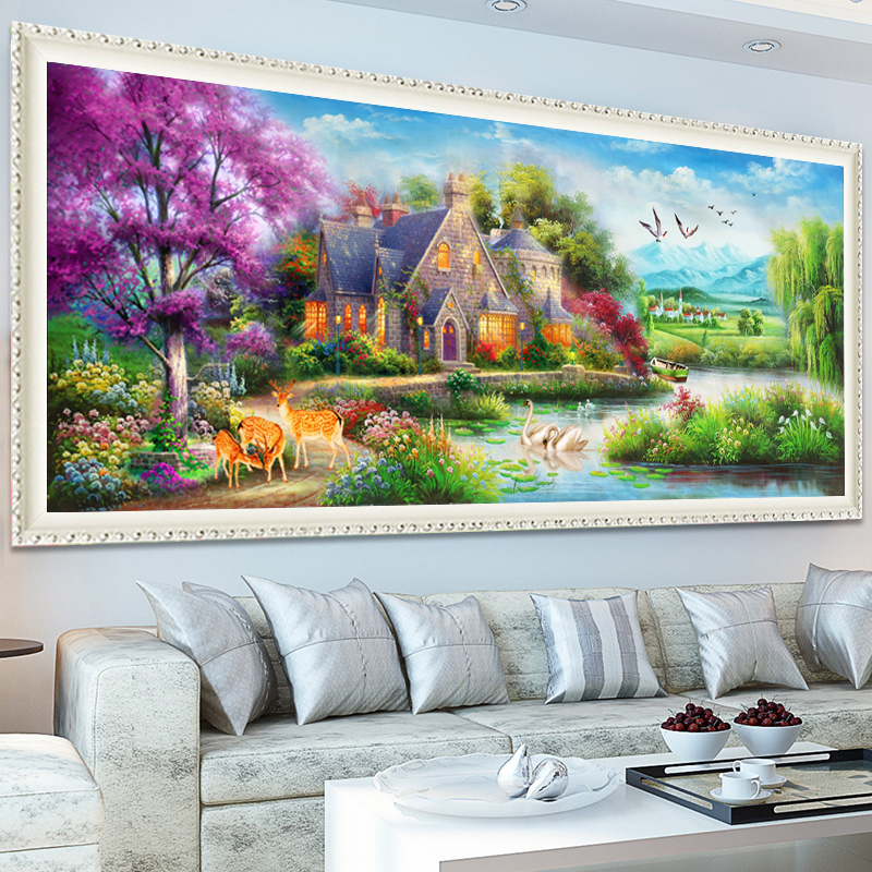 New diy Diamond Embroidery Painting Scenery Living Room Home Decor Full Rhinestones Mosaic Kits Cross Stitch